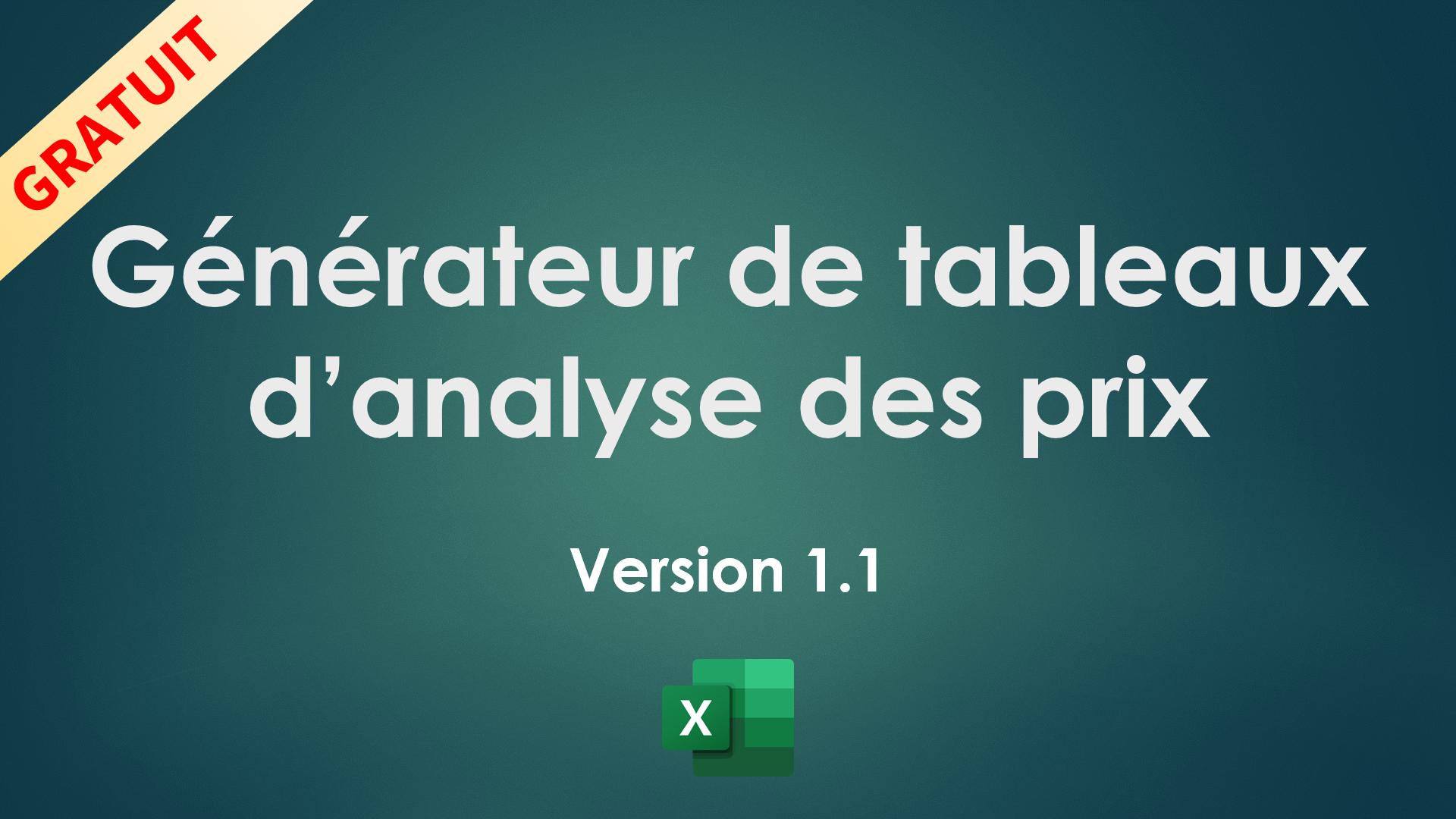 Générateur de tableaux d'analyse des offres v1.1