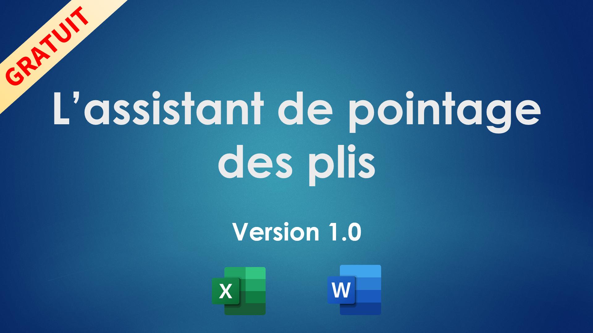 L'assistant de pointage des plis v1.0
